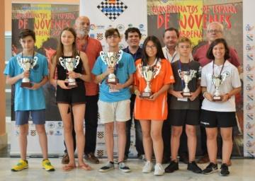 Campeonato de España Sub 14 Rápido, Salvador Pérez y Rosa Adela Lorente terceros.