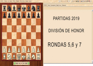 Partidas División de Honor 2019 - Rondas 5,6 y 7